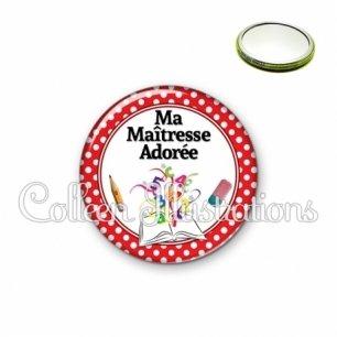 Miroir 56mm Maîtresse adorée (001ROU04)