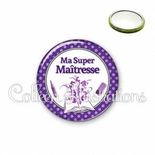 Miroir 56mm Ma super maîtresse (001VIO01)