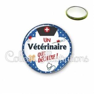 Miroir 56mm Vétérinaire qui déchire (002BLE01)