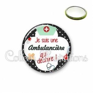 Miroir 56mm Ambulancière qui déchire (002NOI01)