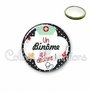 Miroir 56mm Binome qui déchire (002NOI01)
