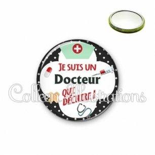 Miroir 56mm Docteur qui déchire (002NOI01)