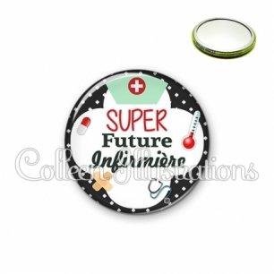 Miroir 56mm Super future infirmière (002NOI01)