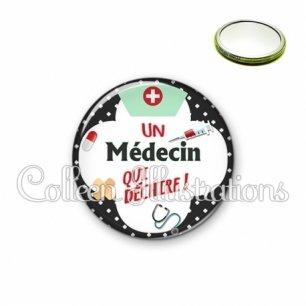 Miroir 56mm Médecin qui déchire (002NOI01)
