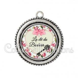Pendentif résine Clé du bonheur (015MUL03)