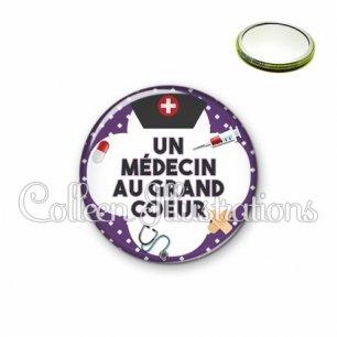 Miroir 56mm Médecin au grand cœur (002VIO01)