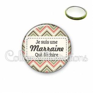 Miroir 56mm Marraine qui déchire (003MUL01)