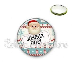 Miroir 56mm Joyeux Noël (003MUL06)