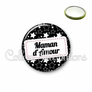 Miroir 56mm Maman d'amour (003NOI02)
