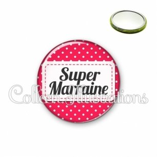Miroir 56mm Super marraine (003ROS02)