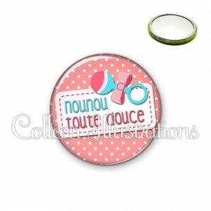 Miroir 56mm Nounou toute douce (003ROS07)