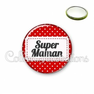 Miroir 56mm Super maman (003ROU01)
