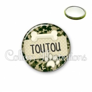 Miroir 56mm Chien Toutou (003VER03)