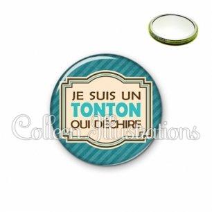 Miroir 56mm Tonton qui déchire (004BLE01)