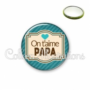 Miroir 56mm Papa on t'aime (004BLE04)