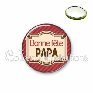 Miroir 56mm Bonne fête papa (004ROU01)