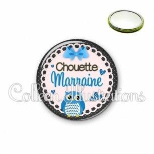 Miroir 56mm Chouette marraine (005BLE02)