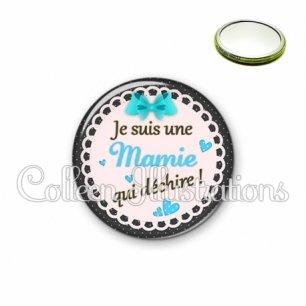 Miroir 56mm Mamie qui déchire (005BLE06)