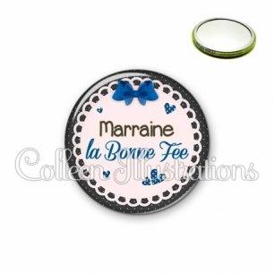 Miroir 56mm Marraine ma bonne fée (005BLE07)