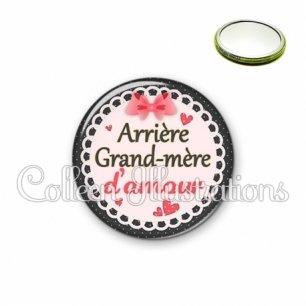 Miroir 56mm Arrière grand-mère d'amour (005ROS01)