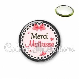 Miroir 56mm Merci maîtresse (005ROS01)