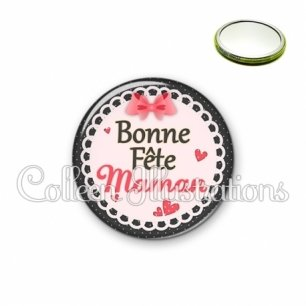 Miroir 56mm Bonne fête maman (005ROS01)