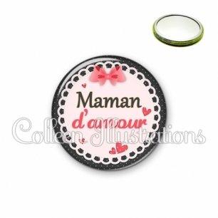 Miroir 56mm Maman d'amour (005ROS01)