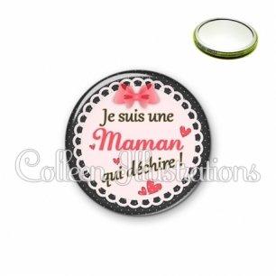 Miroir 56mm Maman qui déchire (005ROS01)