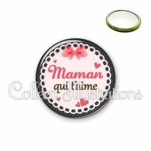 Miroir 56mm Maman qui t'aime (005ROS01)