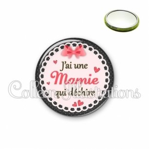Miroir 56mm Mamie qui déchire (005ROS01)