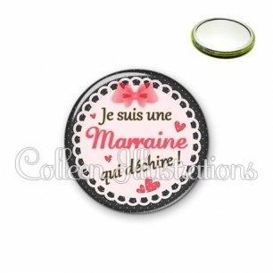 Miroir 56mm Marraine qui déchire (005ROS01)