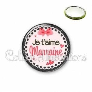 Miroir 56mm Marraine je t'aime (005ROS01)