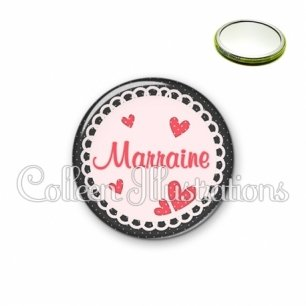 Miroir 56mm Marraine (005ROS01)