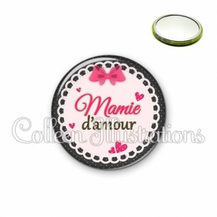 Miroir 56mm Mamie d'amour (005ROS04)