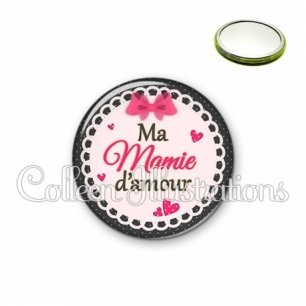 Miroir 56mm Ma mamie d'amour (005ROS04)