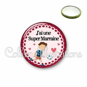 Miroir 56mm Super marraine (005ROU02)
