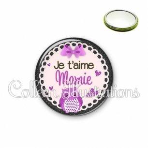 Miroir 56mm Mamie je t'aime (005VIO02)