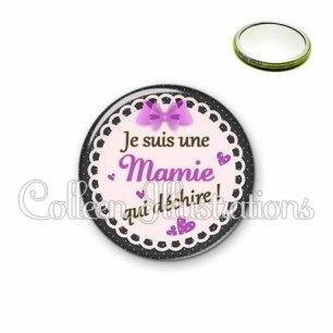 Miroir 56mm Mamie qui déchire (005VIO03)