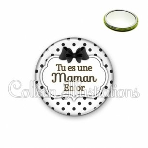 Miroir 56mm Maman en or (006BLA01)