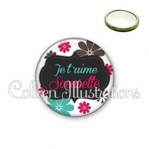 Miroir 56mm Soeurette je t'aime (006BLA02)