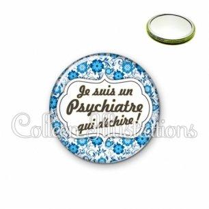 Miroir 56mm Psychiatre qui déchire (006BLE02)