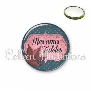 Miroir 56mm Mes amis fidèles (006BLE03)