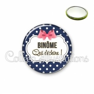 Miroir 56mm Binome qui déchire (006BLE06)