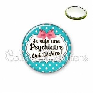 Miroir 56mm Psychiatre qui déchire (006BLE07)