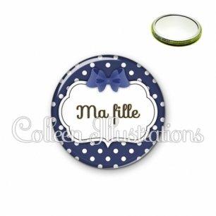Miroir 56mm Ma fille (006BLE15)
