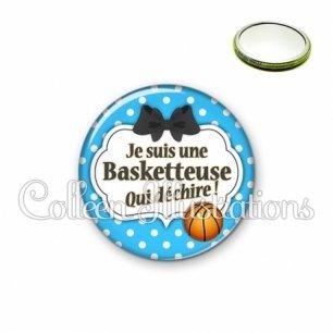 Miroir 56mm Basketteuse qui déchire (006BLE19)