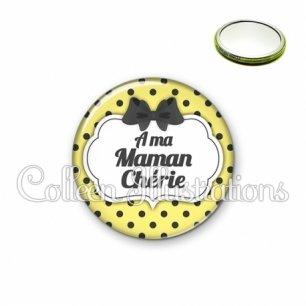 Miroir 56mm A ma maman chérie (006JAU01)