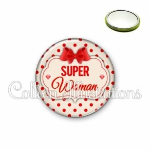 Miroir 56mm Super woman (006MAR03)