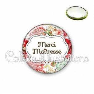 Miroir 56mm Merci maîtresse (006MUL03)