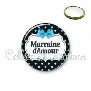 Miroir 56mm Marraine d'amour (006NOI05)